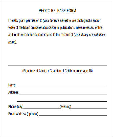 location photo release form