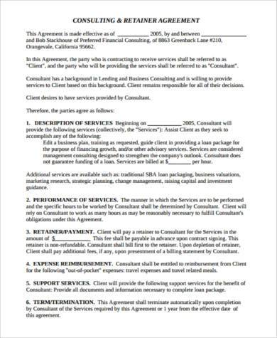 management consulting agreement