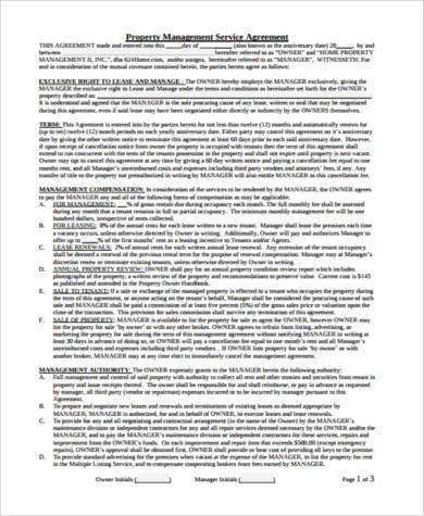 facilities management contract template - management agreement samples 9 free documents in word pdf
