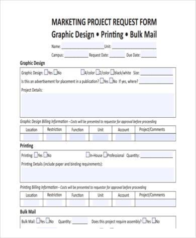 sample project request forms 8 free documents in word pdf