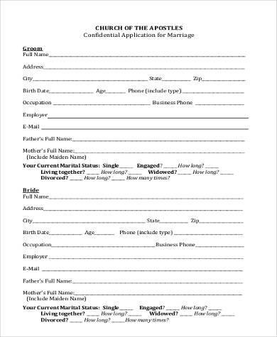marriage proposal application form