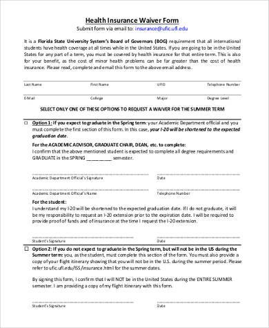 Medical Waiver Sample Forms   Free Documents In Word Pdf