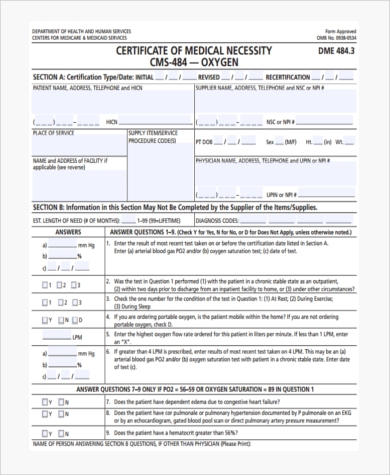 Sample Medical Certification Forms - 8+ Free Documents In Pdf