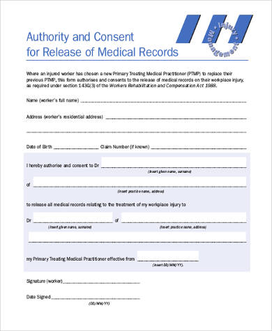 medical record consent release form