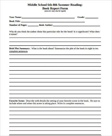 middle school book report format Just because you're writing a book project for your middle school class doesn't mean you have to stick to the standard report work with your teacher to find new and creative ways to express your understanding of the story.