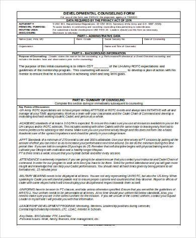 military developmental counseling form1