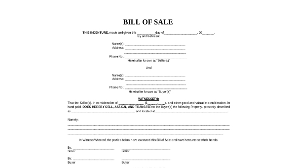 mobile home bill of sale 6 free documents in pdf