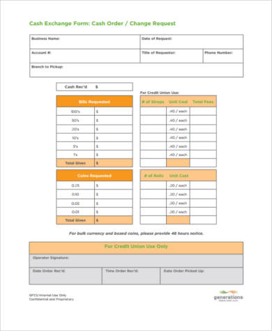 Sample Money Order Forms   Free Documents In Pdf