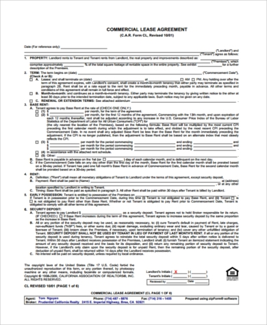 Month To Month Lease Form Sample   Free Documents In Word Pdf