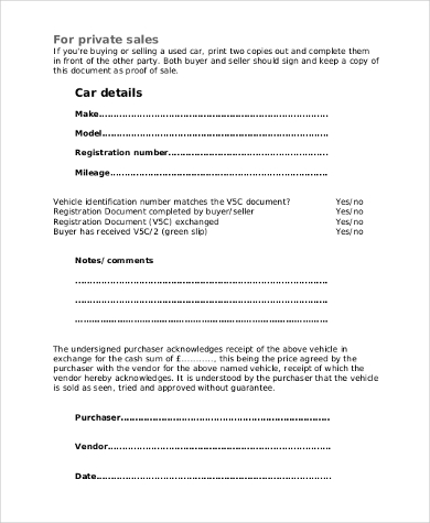 Car Sale Contract - 9+ Free Documents In Word, Pdf
