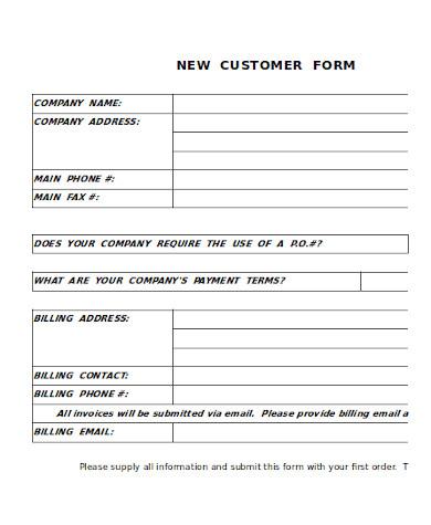 new customer information form1