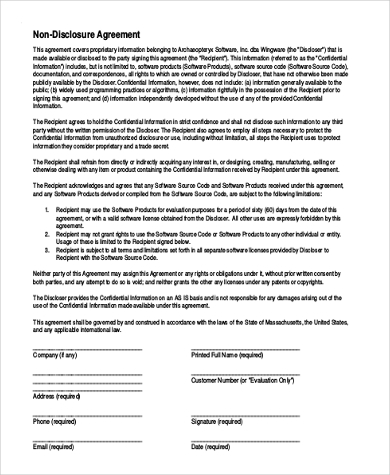 non disclosure agreement pdf1