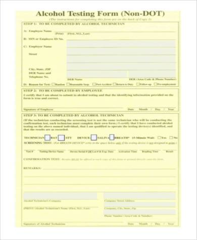 non dot physical exam form
