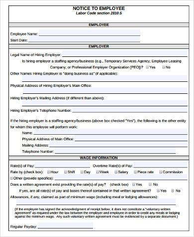 Sample Contract Labor Forms   Free Documents In Word Pdf
