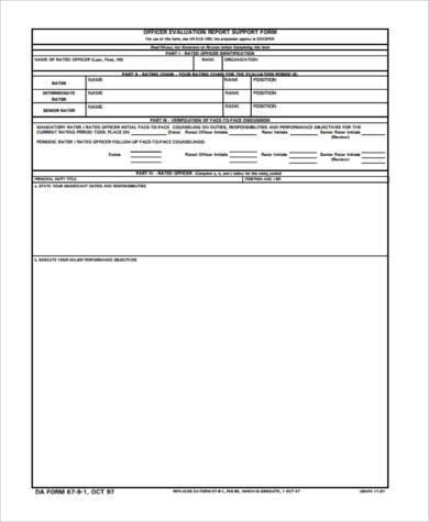 officer developmental counseling form