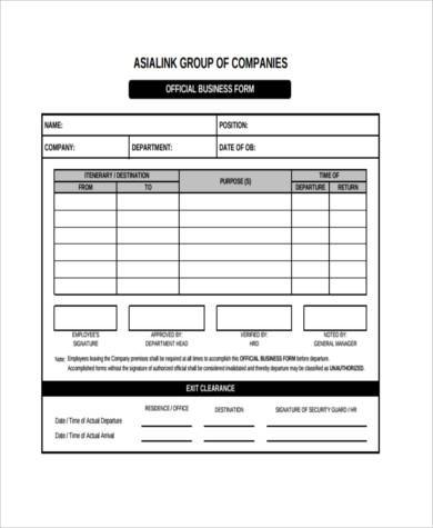 7+ Business Form Samples - Free Sample, Example Format Download