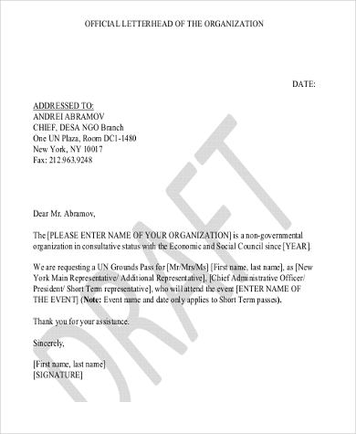 Letterhead Example   Free Documents In Word Pdf