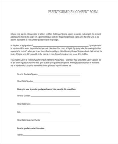 Parent Consent Form Sample - 9+ Free Documents in Word, PDF