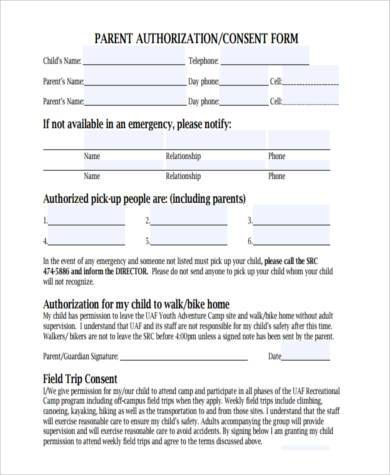 Sample Parental Authorization Forms - 7+ Free Documents in Word, PDF