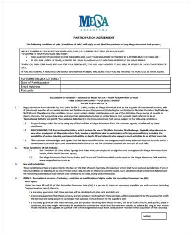 participation agreement form in pdf