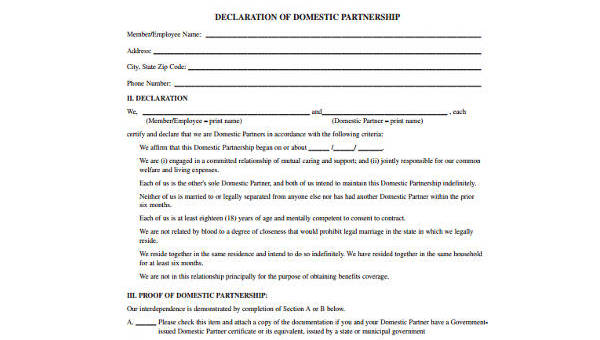 Free 9 Partnership Agreement Form Samples In Pdf Word