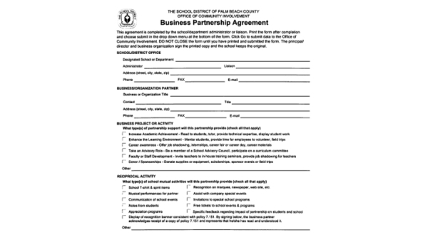 Partnership Agreement Sample 9 Free Documents In Word Pdf