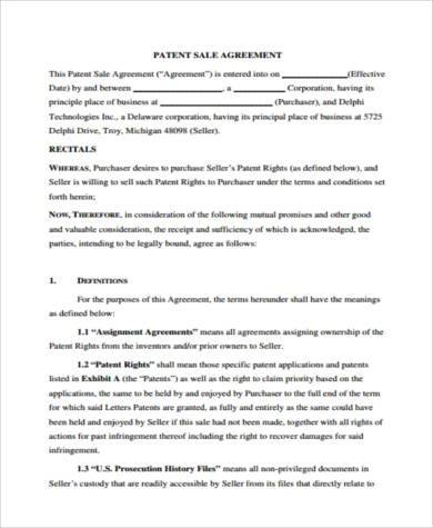 Sample Patent Agreement Forms - 8+ Free Documents In Word, Pdf