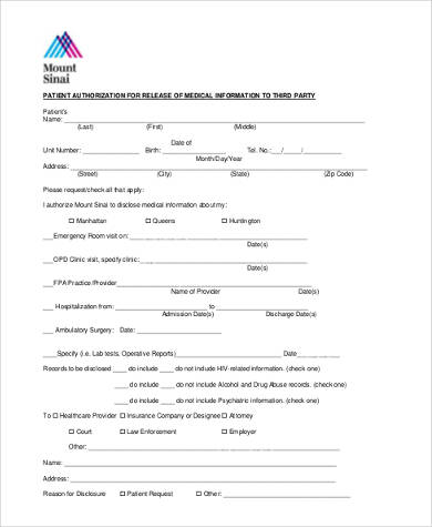 Sample Medical Records Release Forms - 9+ Free Documents In Word, Pdf