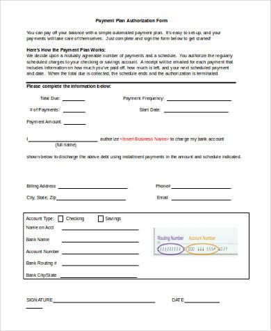payment plan authorization form1