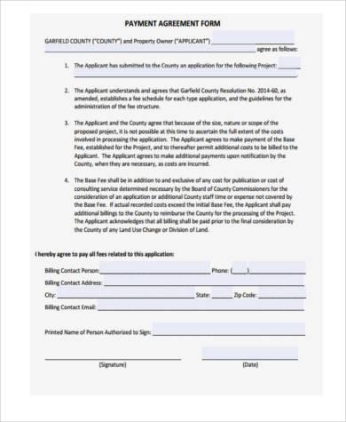 payment settlement agreement