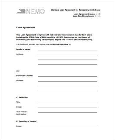 personal loan agreement form pdf