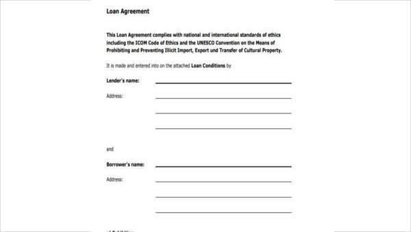 Free 8 Personal Loan Agreement Form Samples In Pdf Word