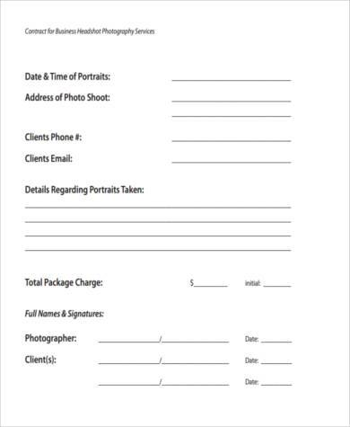 Sample Photography Invoice   Free Documents In Word Pdf