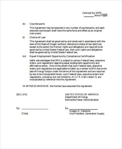 Sample Power Purchase Agreement Forms - 8+ Free Documents In Word, Pdf
