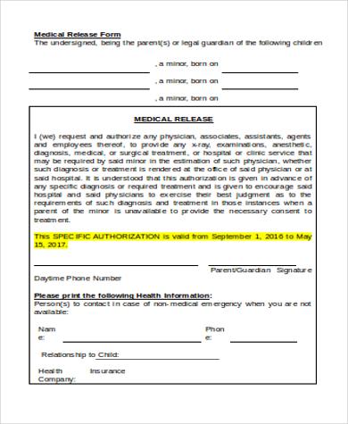 print medical release form