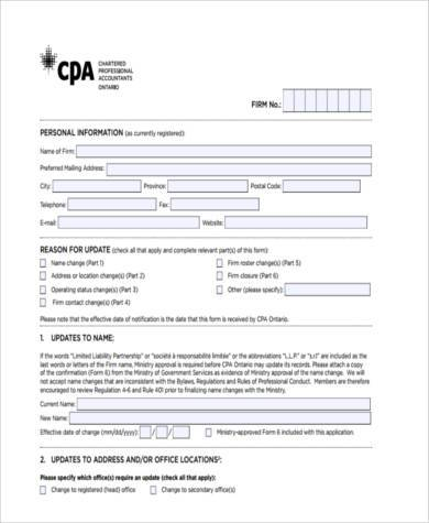 printable business accounting form