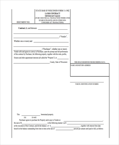 printable contract for deed form