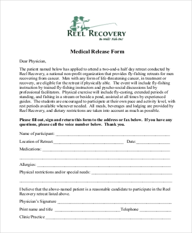 printable medical release form1