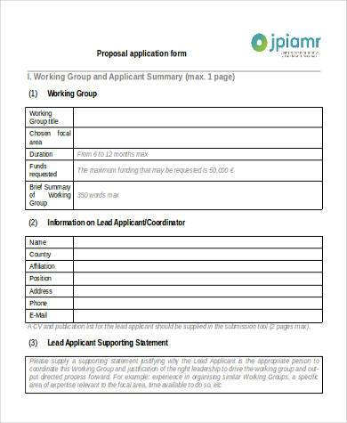 proposal application form in pdf