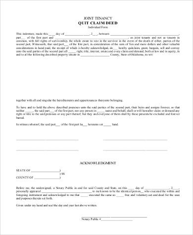 quit claim deed form pdf