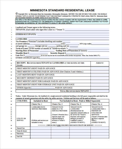 real estate lease form free