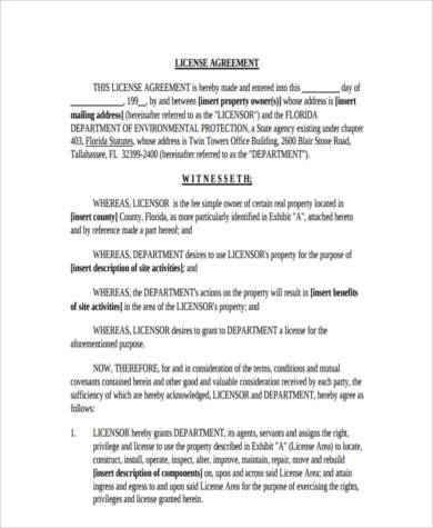 Sample License Agreement Mechanical Licensing Agreement Page What