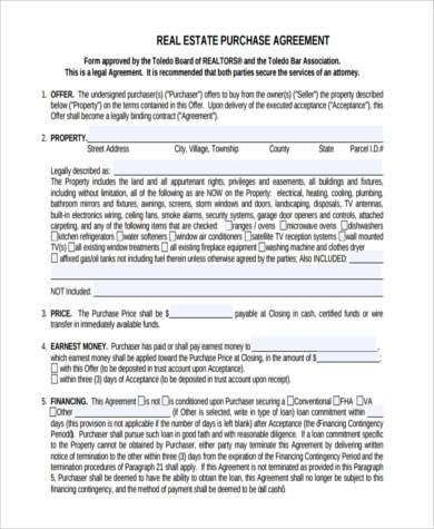 real estate purchase agreement form2