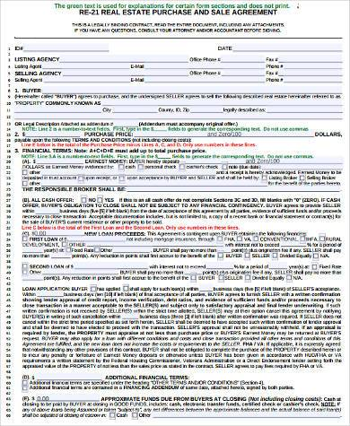 real estate purchase form in pdf