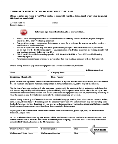 real estate third party authorization form
