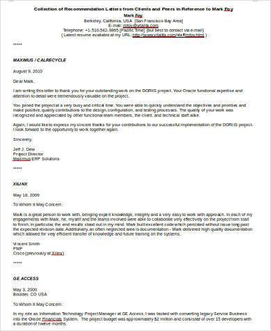 recommendation letter from client3