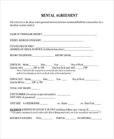 rent agreement form pdf