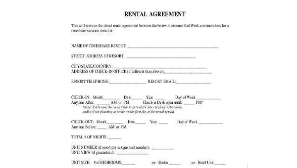 rent agreement form samples 8 free documents in word pdf