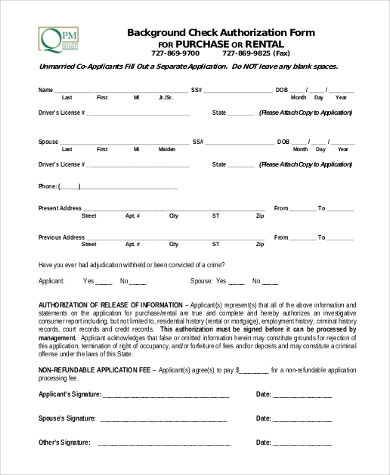 Superior Rental Background Check Authorization Form In PDF