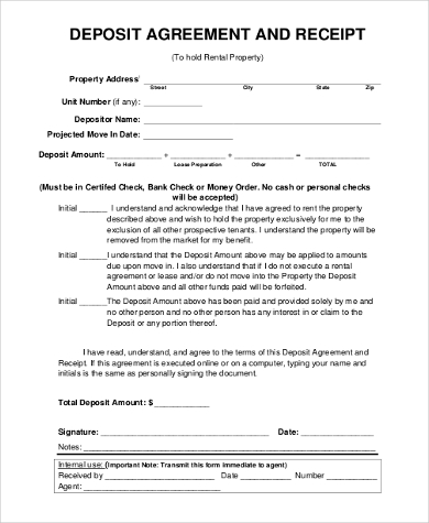 Rental Agreement Form Sample 9 Free Documents In Word Pdf